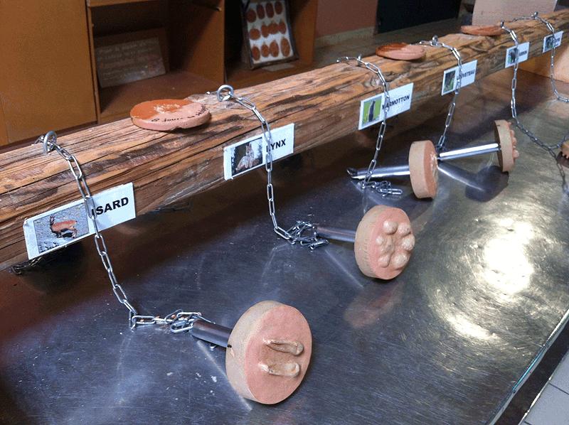 Zona de talleres para niños en Parc Animalier des Pyréneés