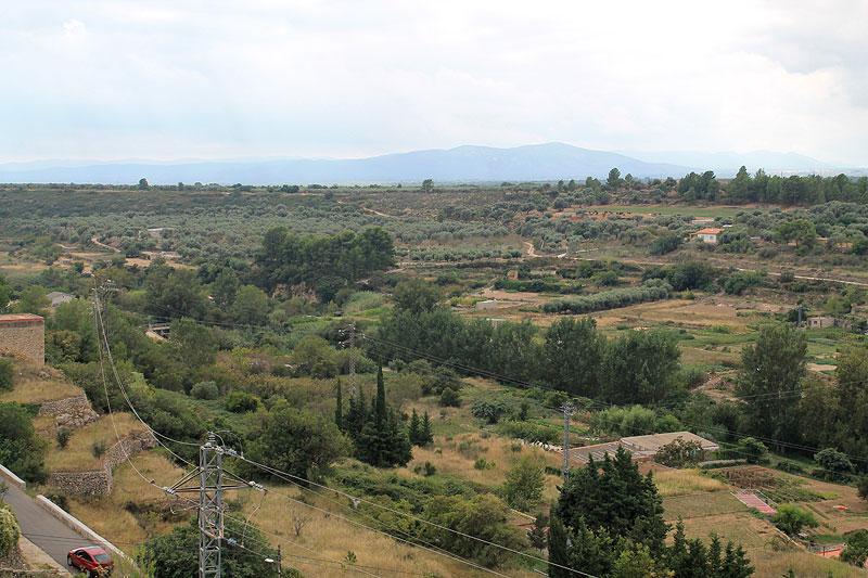 Vistas desde uno de los miradores que ofrece de La Sènia
