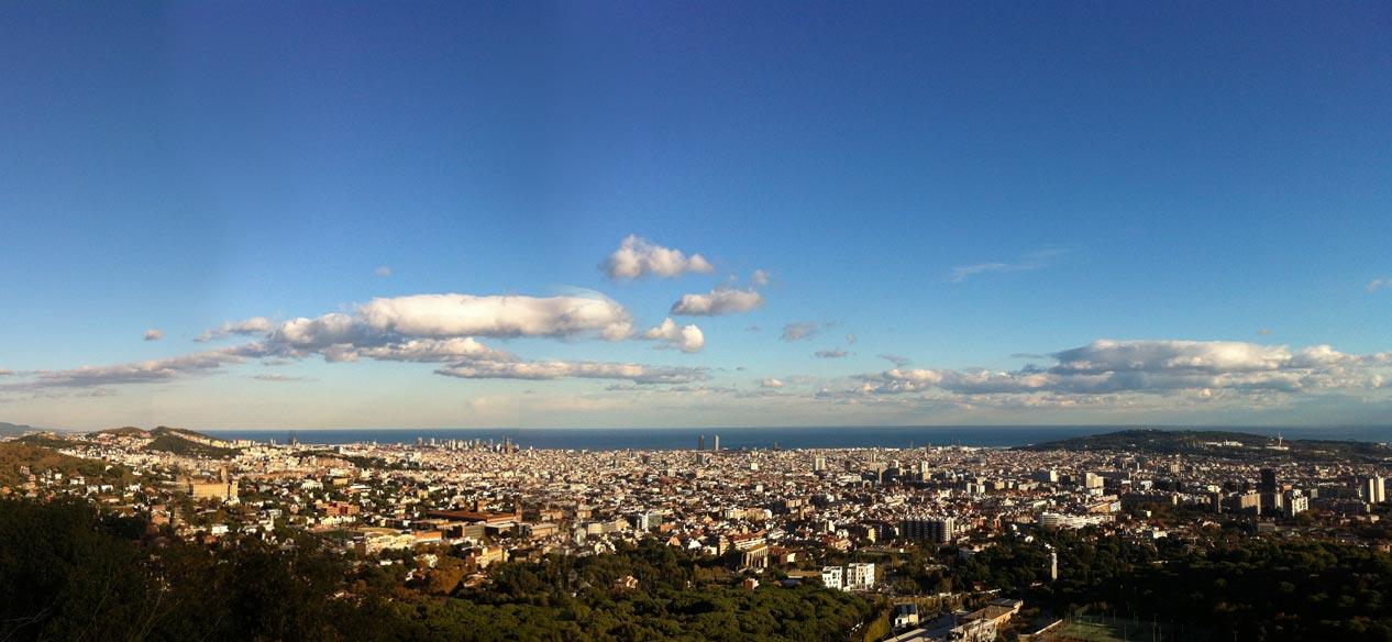 Panorámica de la ciudad de Barcelona