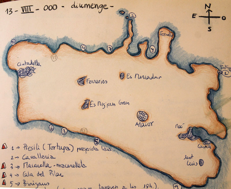 Nuestro mapa particular de playas menorquinas