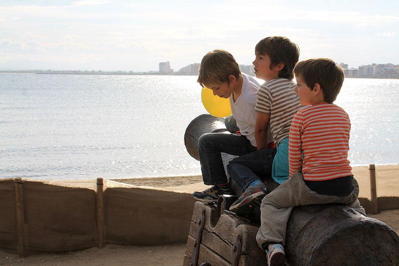 Los niños lo pasaron genial en la Costa Brava