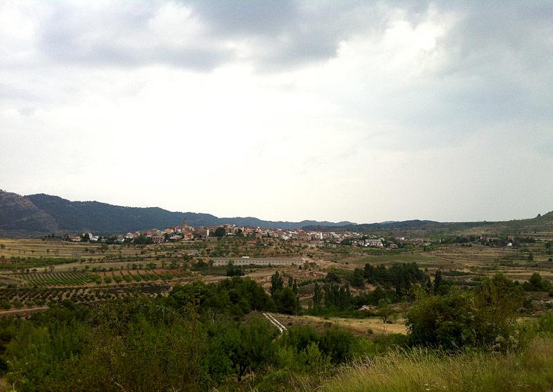 Ulldemolins vista desde Sant Antoni