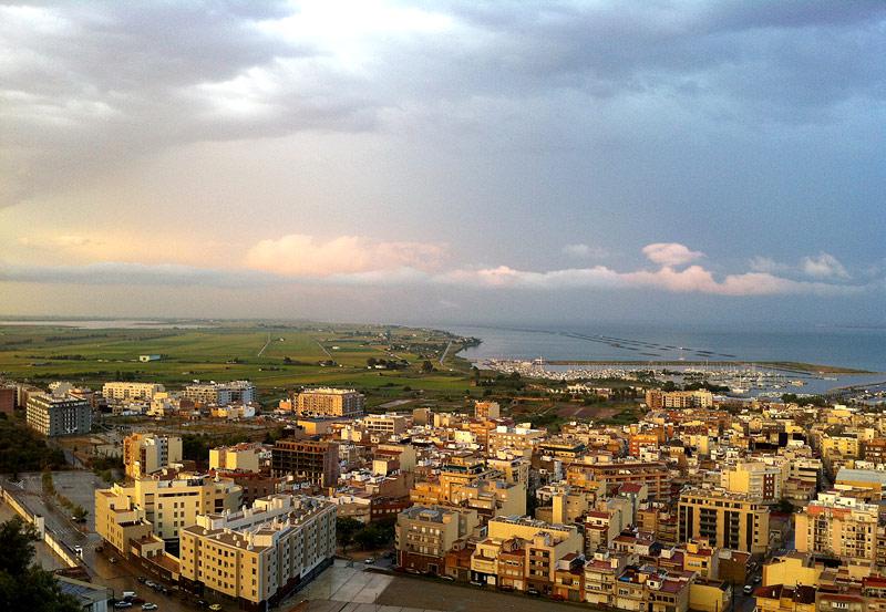 El Delta del Ebro desde el Mirador de Guardiola
