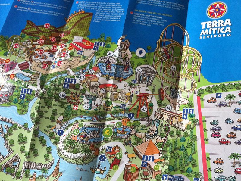Mapa del recinto de Tierra Mítica