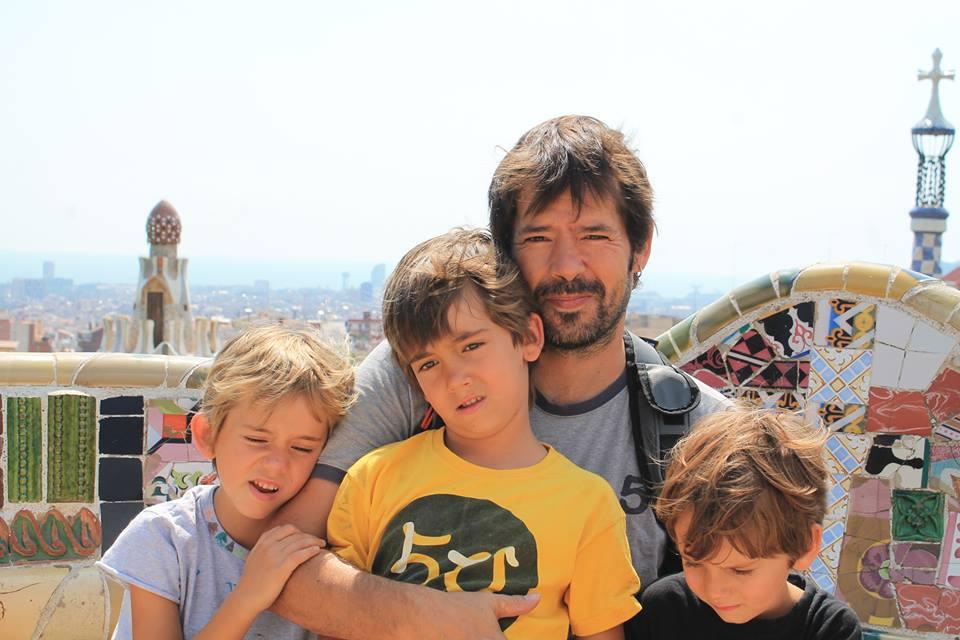 Un día en el Park Güell con mis hijos