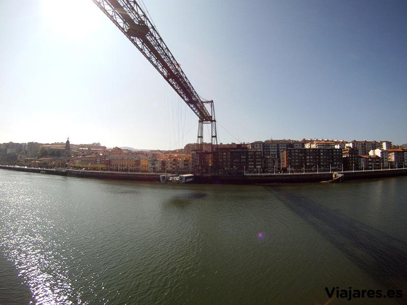 Así se observa Portugalete desde el lado de Getxo