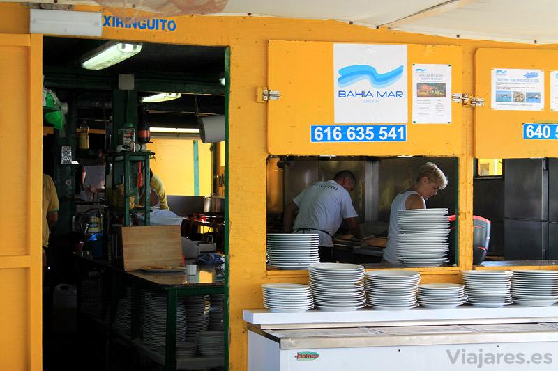 Xiringuito costa la rapita cocina viajares for Coste cocina nueva