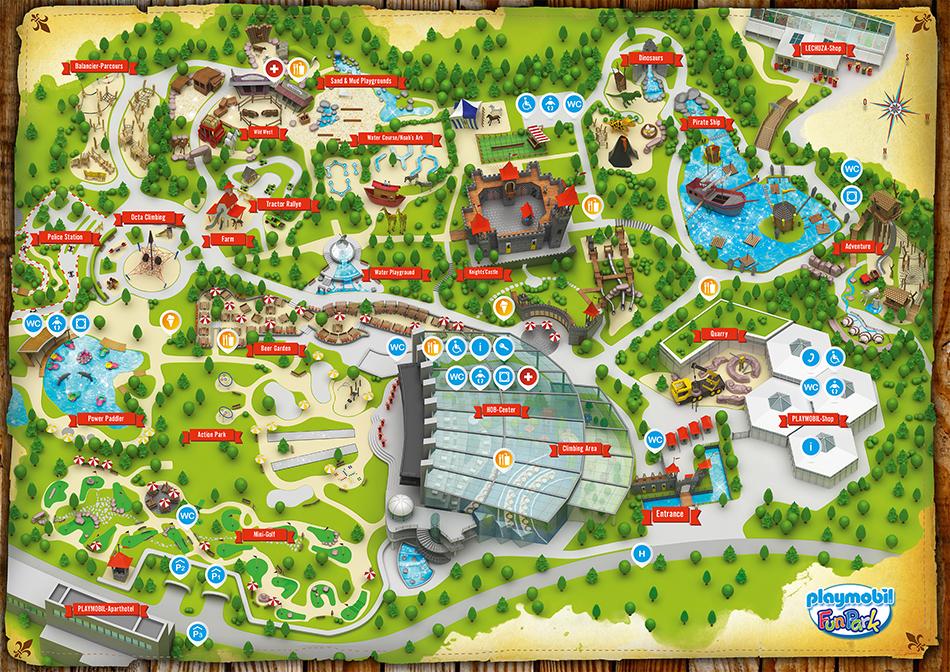 Mapa del Playmobil Fun Park de Alemania