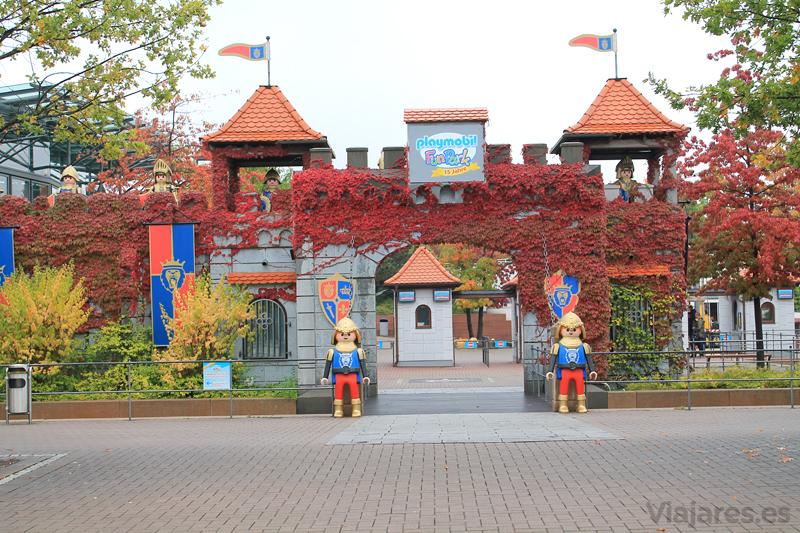 Entrada principal del Playmobil Fun Park de Alemania