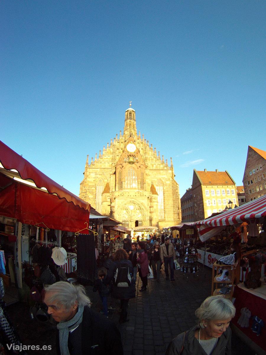 Mercado típico en Núremberg