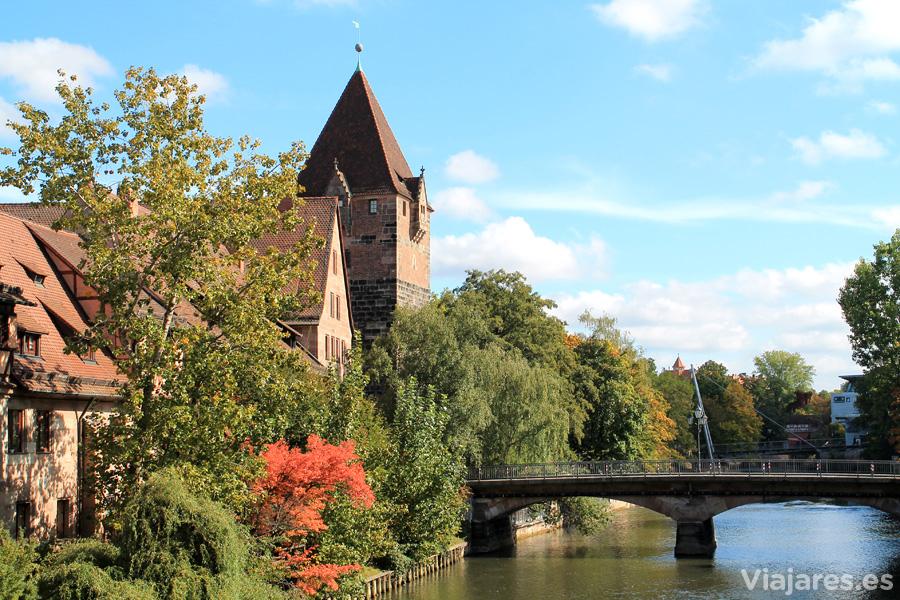Puente sobre el río Pegnitz