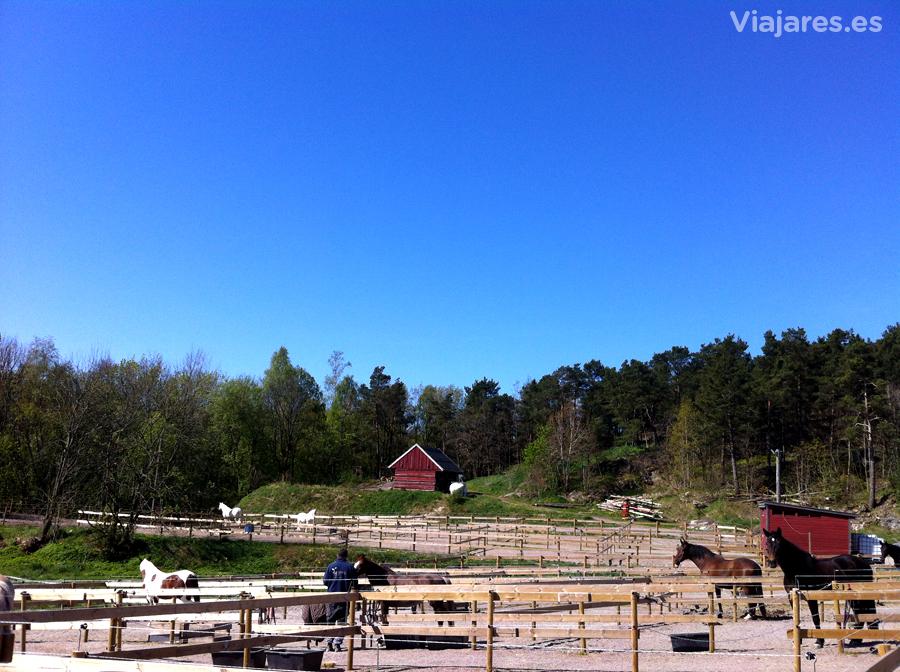 Granja en los alrededores de la localidad noruega de Kristiansand