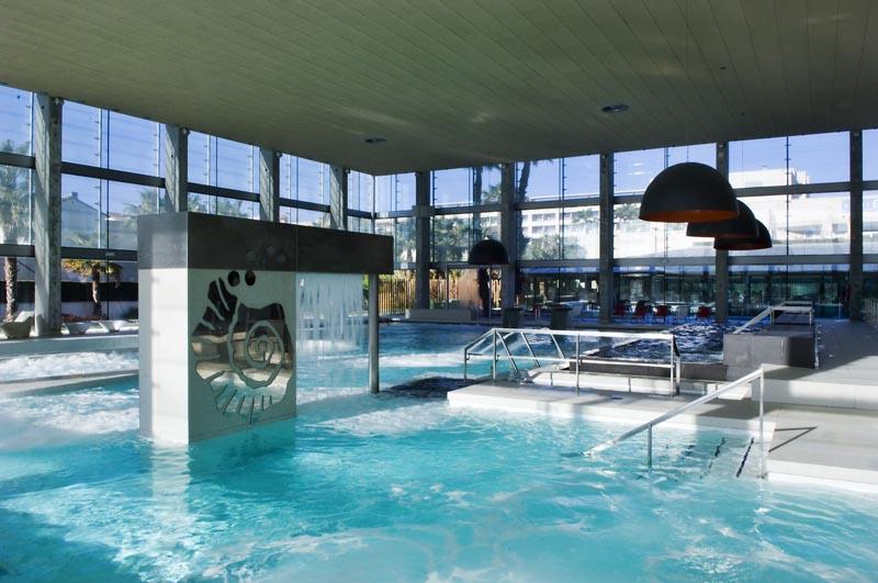 Interior de las instalaciones de Aquum Spa & Wellnes