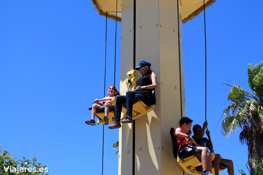 Día familiar en PortAventura - Atracción el Salto de Blas