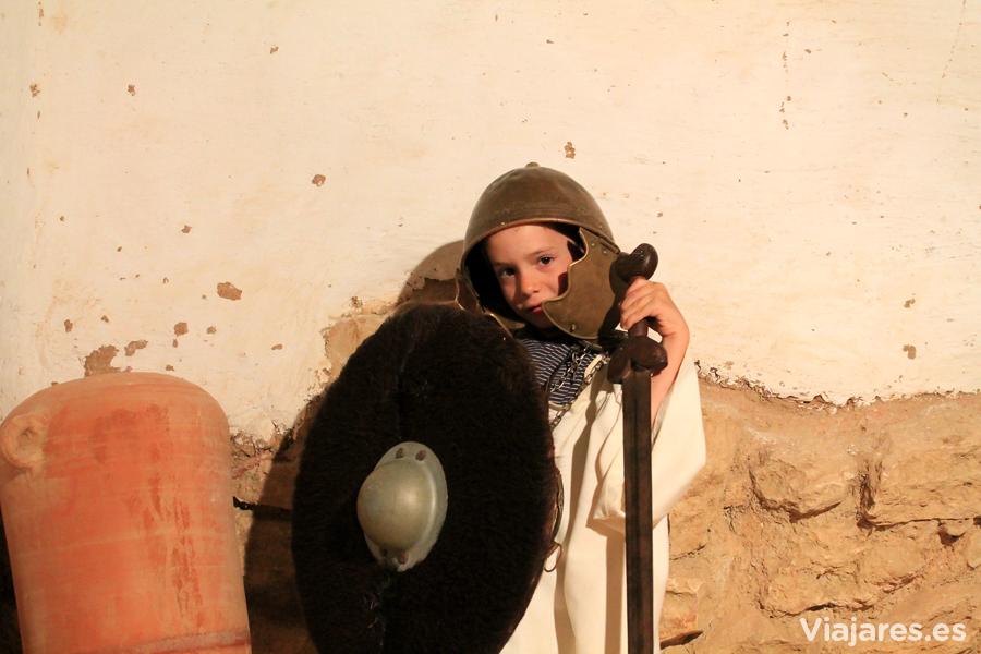 Un jovencísimo guerrero de la tribu de cossetanos