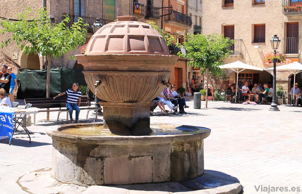 Fuente de la Plaza Mayor de Prades
