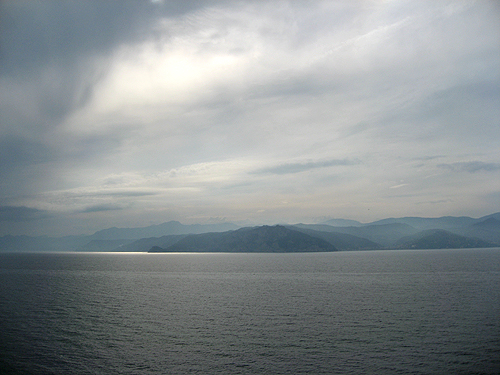 Vistas de la costa de Savona