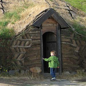 Casa del vikingo Erik el Rojo en Islandia