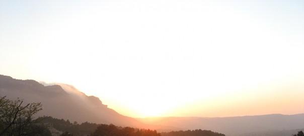 Atardecer en el Montsant desde Albarca