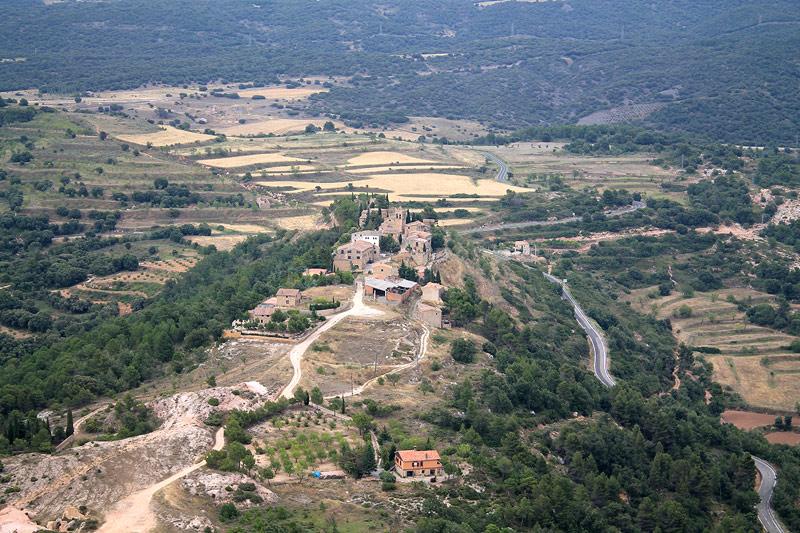 Panorama del pueblo de Albarca