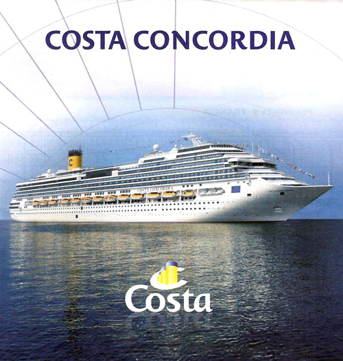 Costa Concordia folleto