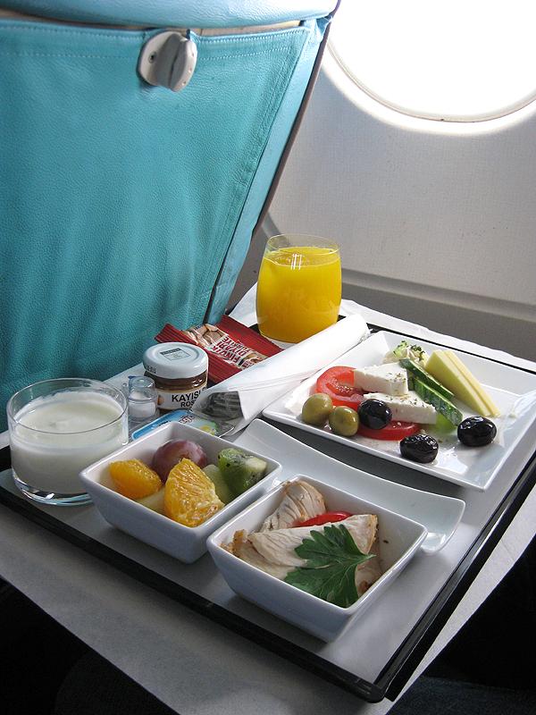 Menú de Turkish Airlines