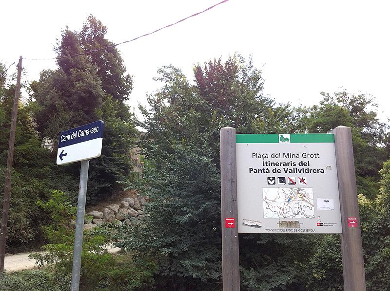 Indicaciones Pantano Vallvidrera