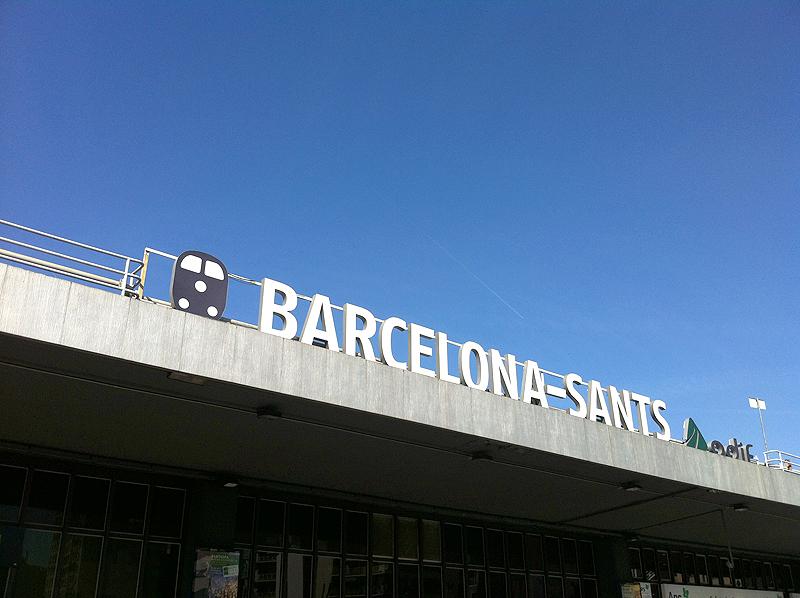 Estación de tren Barcelona Sants