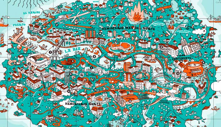 Mapa Creativo De La Ciudad De Bilbao Viajares