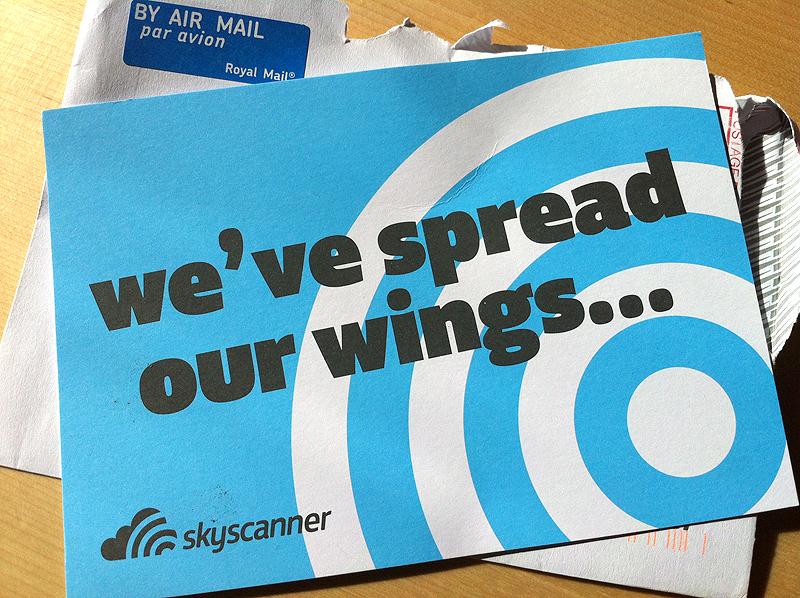 Carta de Skyscanner