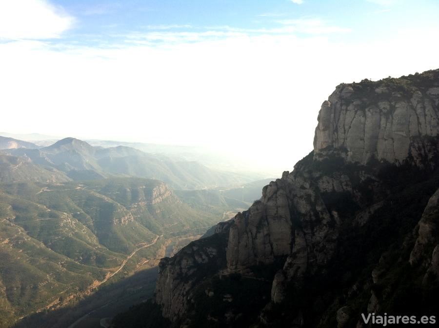 Panorama desde lo alto de la montaña