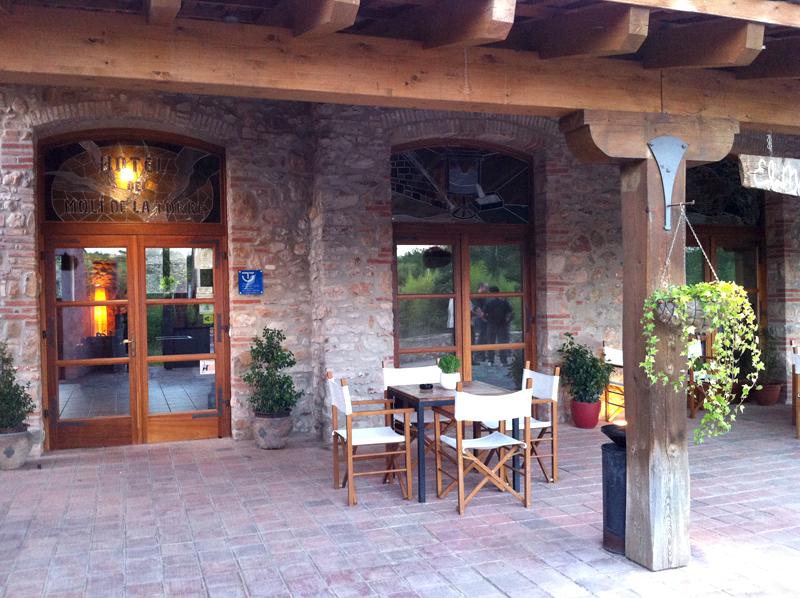 Entrada Hotel rural Molí de la Torre
