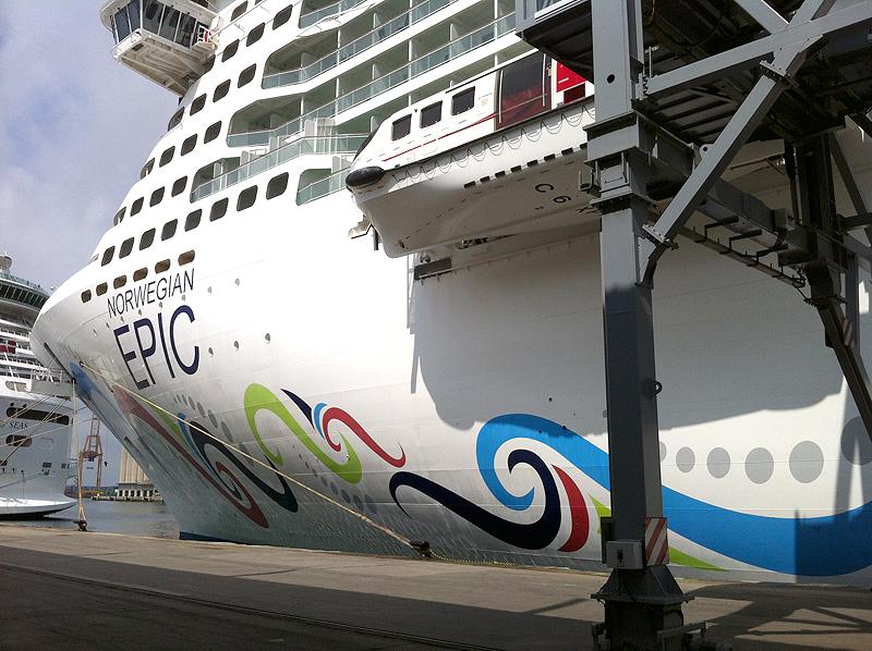 El Norwegian Epic es uno de los mayores cruceros del Mediterráneo