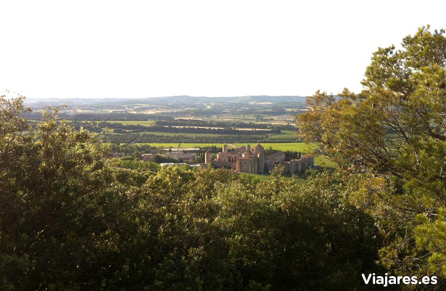 Monasterio de Poblet desde el bosque