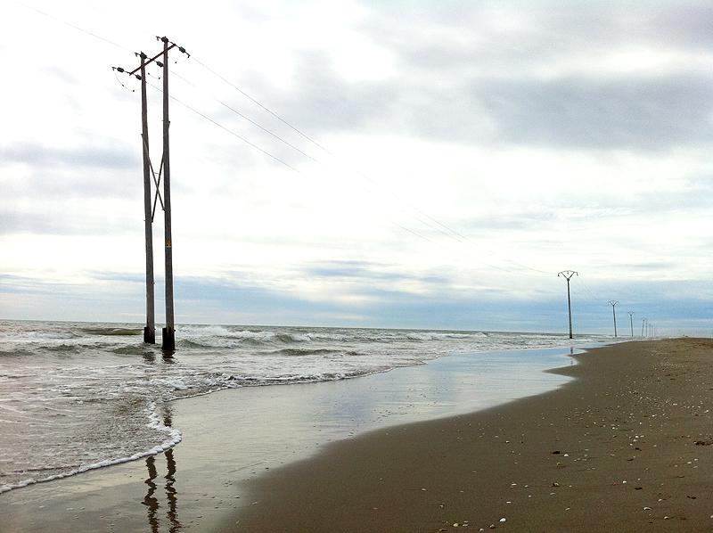 """Playa del mar """"de fuera"""" en el Trabucador"""