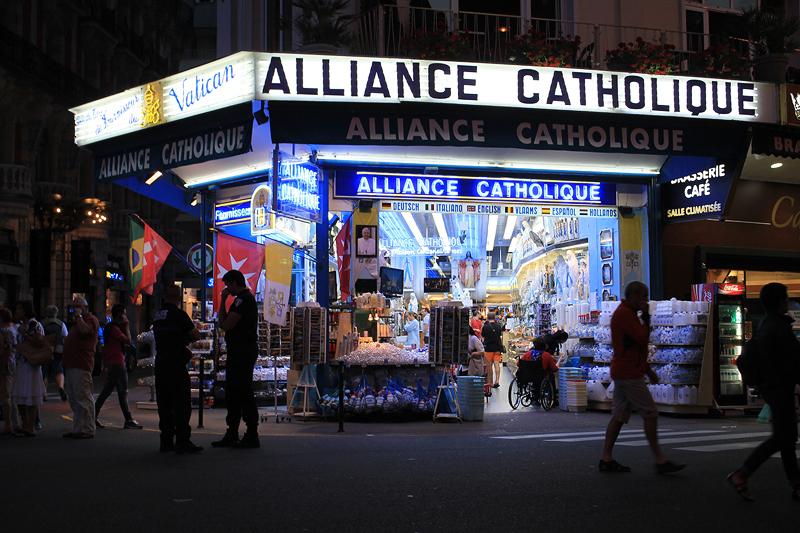 Tienda de recuerdos religiosos
