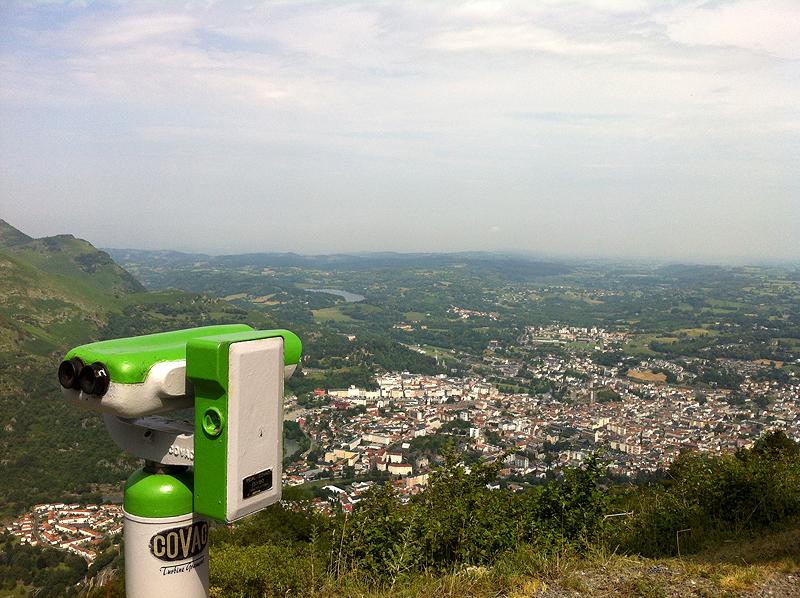 Vistas de Lourdes desde Pic du Jer