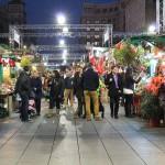 Mercado navideño de Santa Llúcia al atardecer