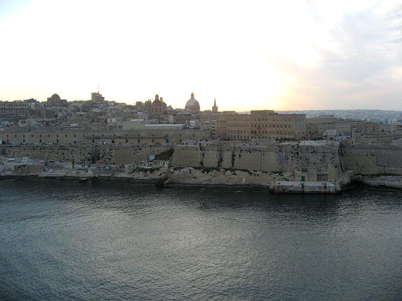 Perfil de La Valletta en Malta