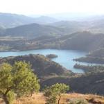 El pantano desde lo alto de Siurana