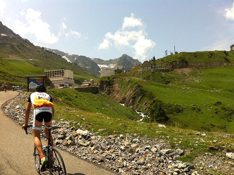 Las últimas rampas hasta coronar el Col du Tourmalet