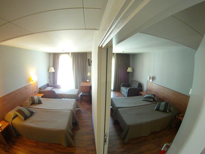 Habitaciones comunicadas en Hotel Medes II