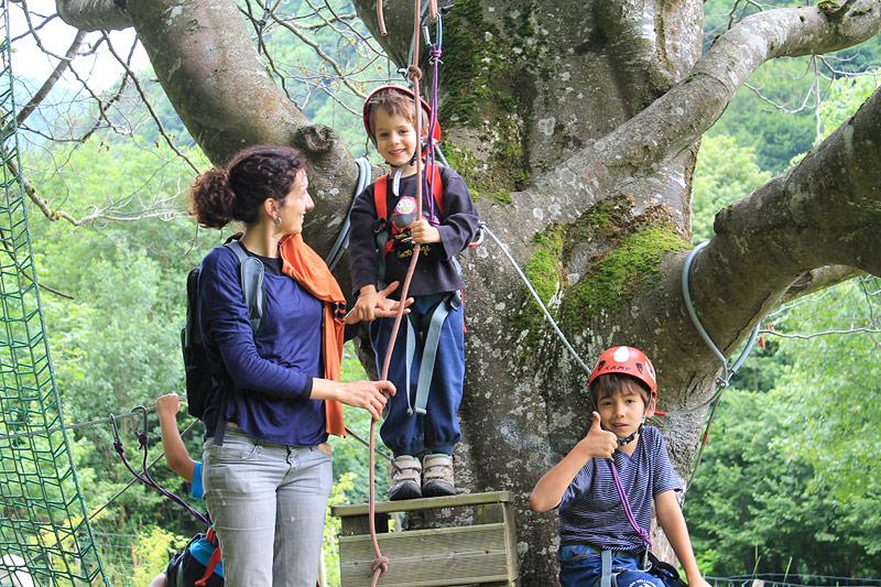 Saltando de árbol en árbol en Cauterets