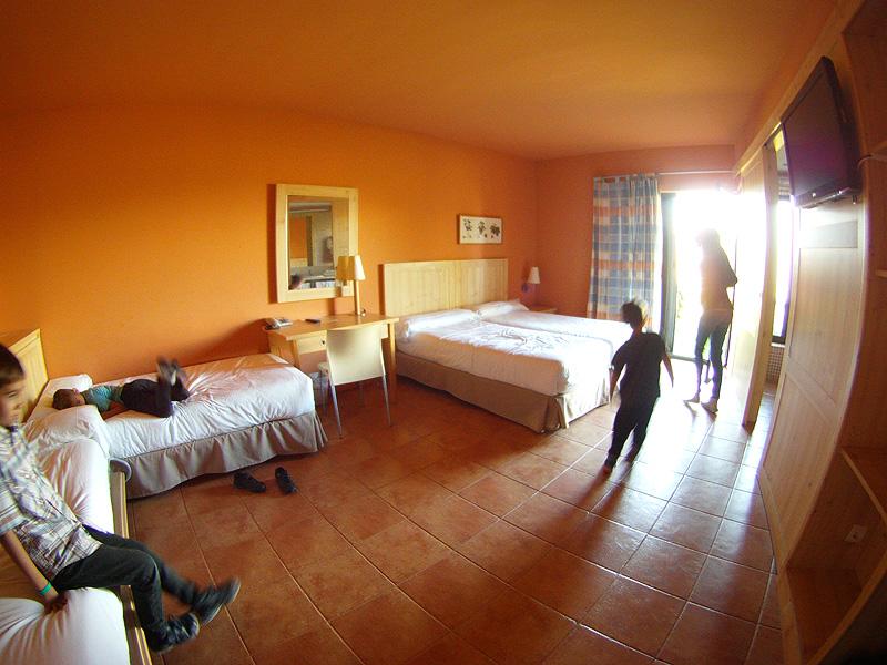 Nuestra habitación familiar en el Vilar Rural de Cardona