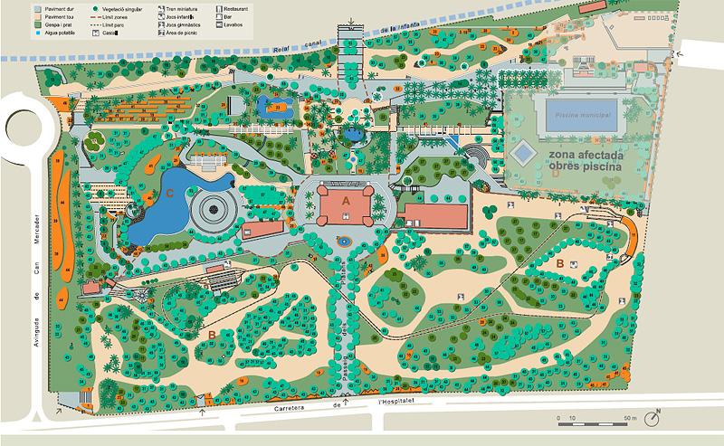 Plano del Parque de Can Mercader