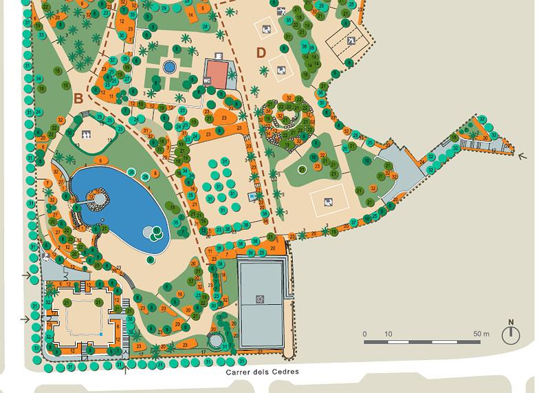 Plano del Parque de Can Vidalet