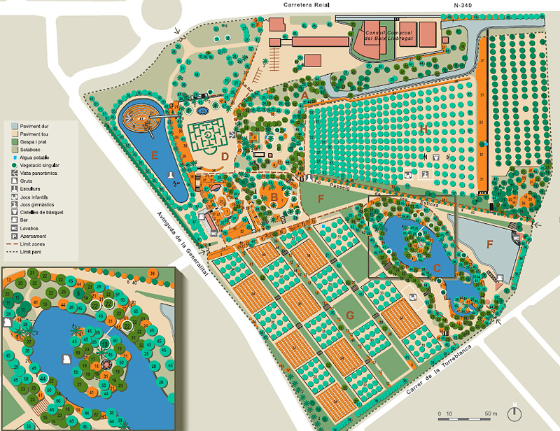 Plano del Parque de Torreblanca