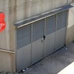 Entrada al depósito pluvial de Joan Miró