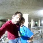 Pedre e hijo en las cloacas de Barcelona