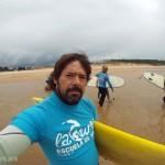 Surf en la playa de Loredo, Cantabria